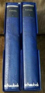 1 Schaubek 5 RING Binder  Canada  Blue color with Case