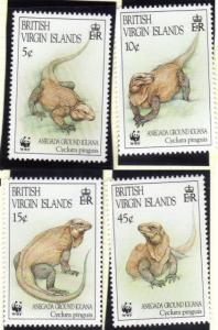 Virgin Islands #791-94 iguanas MNH set