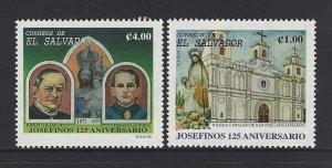 EL SALVADOR ST. JOSEPH MISSIONARIES, CHURCH, Sc 1477-8 MNH 1998