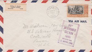 1948 Cuba Stamps Sc C38 Independence War 50th Anniversary  FDC