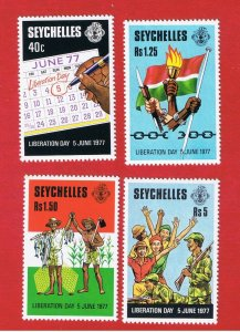 Seychelles #409-412 MNH OG  Liberation Day    Free S/H