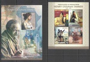 UG066 2013 UGANDA HENRY OSSAWA TANNER ART OF AFRICAN ORIGIN #3095-8+BL432 MNH