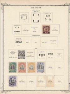 salvador stamps page ref 17176