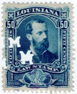 (I.B) US Revenue : Law Stamp 50c (Louisiana)