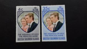 Solomon Islands 1973 Royal Wedding of Princess Anne and Mark Phillips