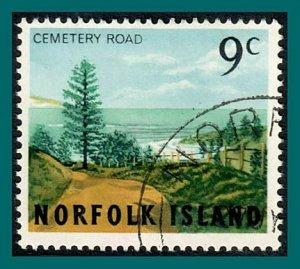 Norfolk Island 1966 Views, 9c used #89,SG73