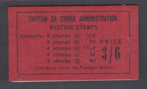Tristan da Cunha SG SB2 unexploded 1958 Booklet, F-VF