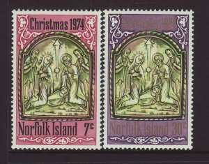 1974 Norfolk Is Christmas Set Unmounted Mint SG156/157