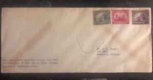 1930 Port Cabezas Nicaragua First Direct Caribbean Fight Cover FFC Lindbergh