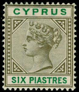 CYPRUS SG45, 6pi sepia & green, LH MINT. Cat £22.