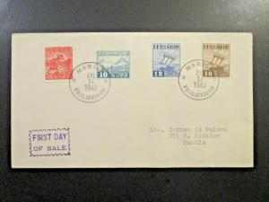 Philippines SC# N16, N17, N18 & N19 First Day Cover - Z5492