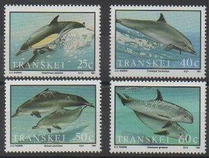 1991 Transkei 267-270 Sea fauna 7,00 €