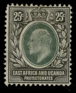 EAST AFRICA and UGANDA EDVII SG40, 25c grey-green and black, M MINT. Cat £22.