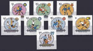 Mongolia 1982 Sc#1242/1249 Football World Cup Spain 82 Set (8) MNH
