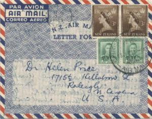 New Zealand 3d QEII Coronation (2) and 1d KGVI (2) 1953 Christchurch C.I. N.Z...