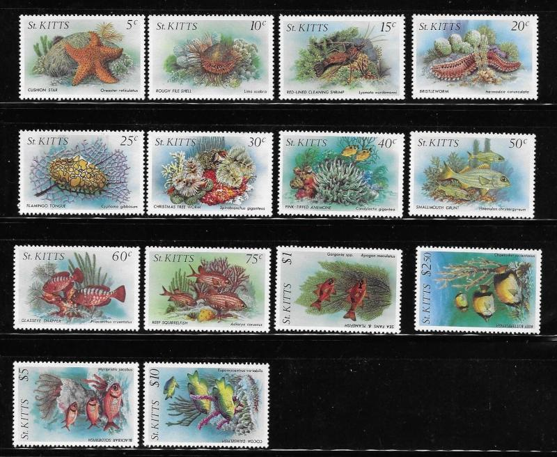 St Kitts 1984 Marine Life Definitive MNH A109