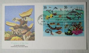 US FDC Sc# 2863a 2866 Wonders of the Sea Block of 4 Honolulu HI 1934