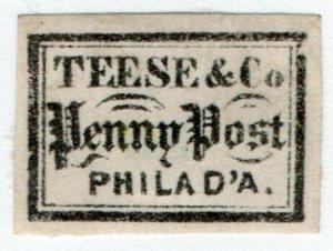 (I.B) US Local Post : Teese & Co Penny Post (Philadelphia)