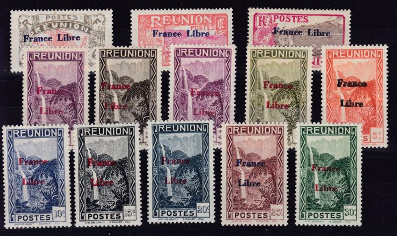 French Reunion 1943 Complete Set in VF/Mint(*) Condition