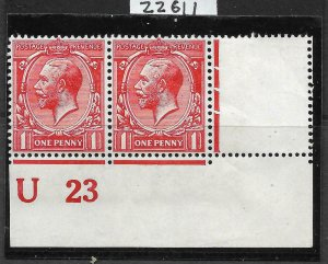 N16(-)Unlisted 1d Very Dp Bright Scarlet Royal Cypher U23 with cert MM Margin