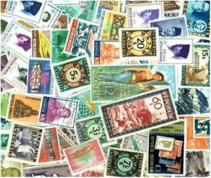 Indonesia Stamp Collection - 200 Different Stamps