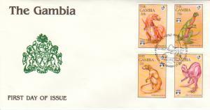 Gambia Scott 1284A-1284C, 1286A Unaddressed.