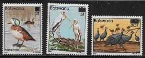 Botswana Scott #'s 401 - 403 MNH