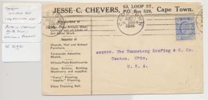 TRANSVAAL SOUTH AFRICA-USA 1914, ADVERTISING COVER 2½d RATE (SEE BELOW