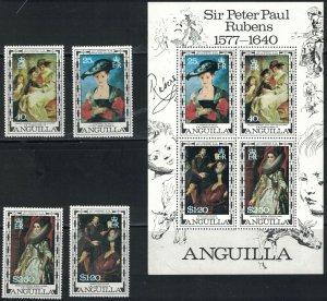 Anguilla SC301-304 33504aRuben'sPaintings-FamousArtist-400thAnniv. MNH 1977