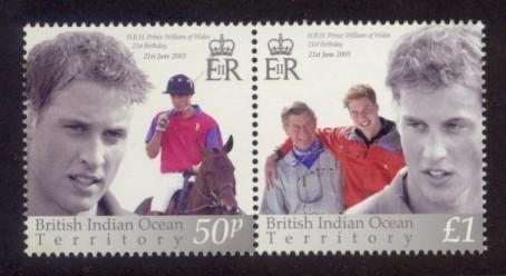 British Indian Ocean Territory Sc# 265 MNH Prince William