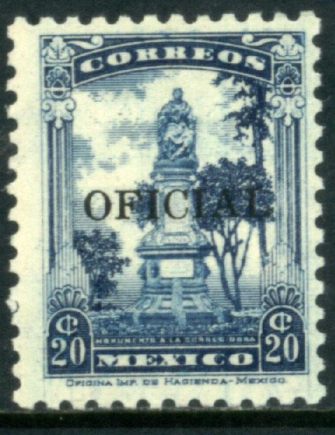 MEXICO O220, 20c OFFICIAL. Mint, NH. F-VF.