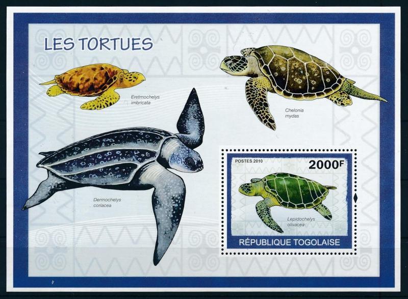 [96530] Togo 2010 Reptiles Turtles Sheet MNH