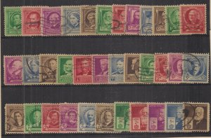 UNITED STATES SC# 859-93   SET/35  FVF/U