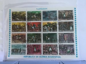 Rep de Guinea Ecuatorial Napoleón French Revolution  Stamps Sheet R26009