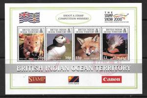 BRITISH INDIAN OCEAN TERR SGMS235 2000 STAMP SHOW 2000 FINE USED