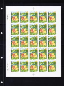 French Polynesia 1997 Sc#700 Year of the Ox Sheetlet (25) IMPERFORATED MNH