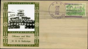 #790 ON U.S.S. SELFRIDGE CACHET BY LOUIS WEIGAND BN2947