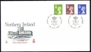 Great Britain Northern Ireland Sc# NIMH17,22,25 FDC 1980 QEII