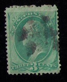 US Sc 158 Used Green Greenish  F-VF