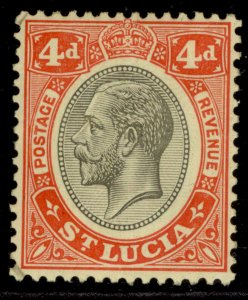 ST. LUCIA GV SG101, 4d black & red/yellow, M MINT.