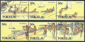Tokelau 163-164 MNH - Food Gathering