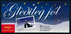 [68549] Iceland 2001 Christmas Booklet MNH