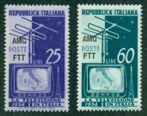 Trieste #196-197  Mint  VF NH  Scott $4.00  Television