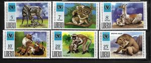 LIBERIA, 571-576, MNH, ANIMALS