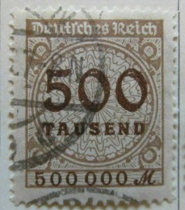A6P46F300 Germany 1923 500 th m used