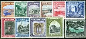 Cyprus 1934 Set of 11 SG133-143 Very Fine MNH