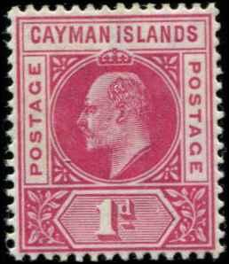 Cayman Islands SC# 4 SG# 4 Edward VII 1d MNH wmk 2