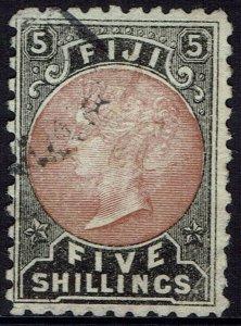 FIJI 1882 QV 5/- USED