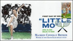 19-080, 2019, Little Mo, Digital Color  Postmark, FDC, Tennis, Maureen Connolly