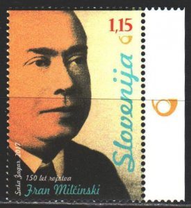 Slovenia. 2017. 1238. Milchinski, lawyer and writer. MNH.